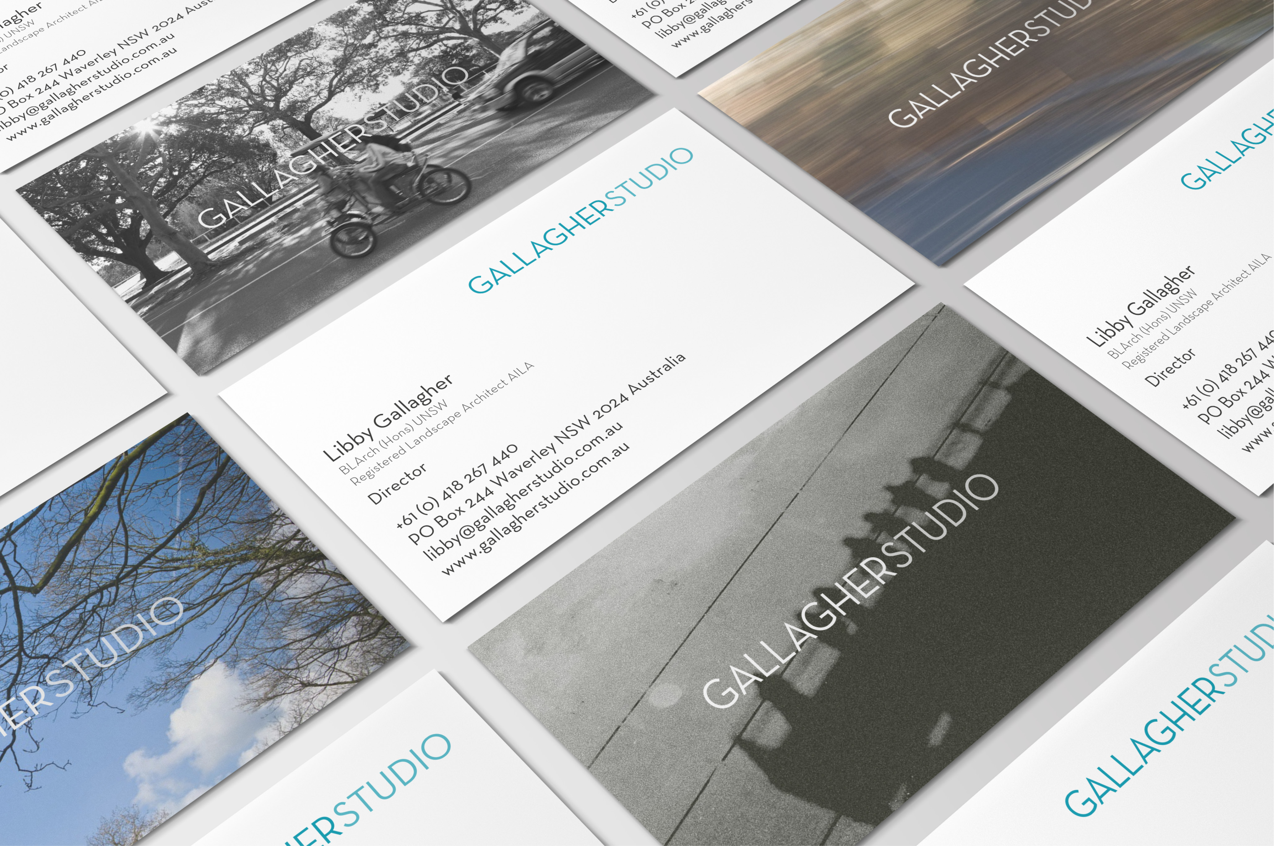 Business cards for Gallagher Studio
