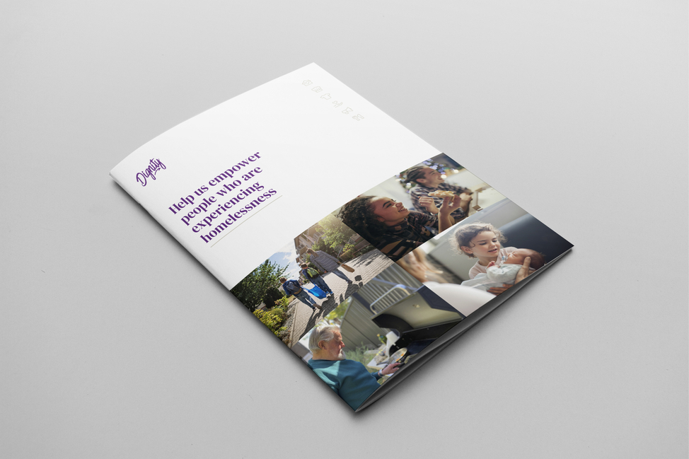 An example of the new Dignity corporate A4 brochure