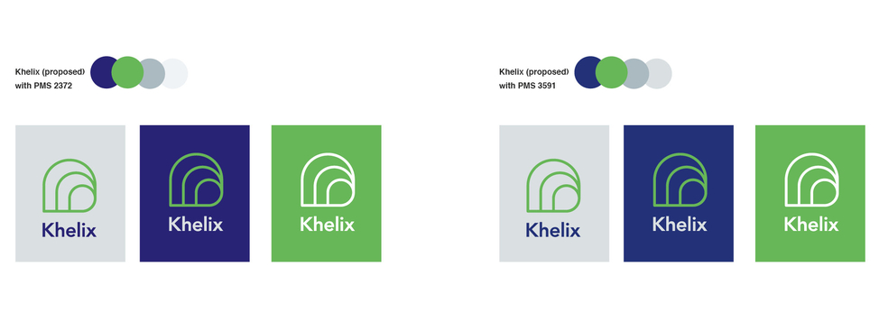 Refining the logo colourways