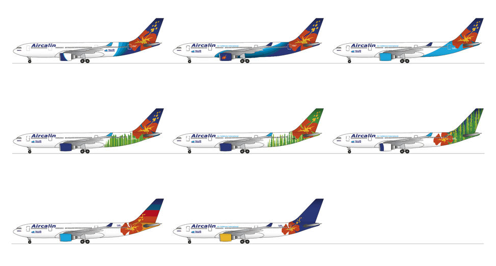 Aircalin Airlines plane livery concepts