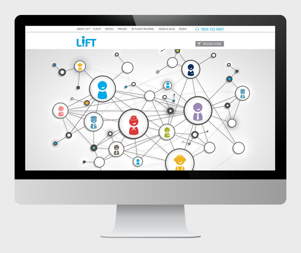 LIFT website (desktop view)