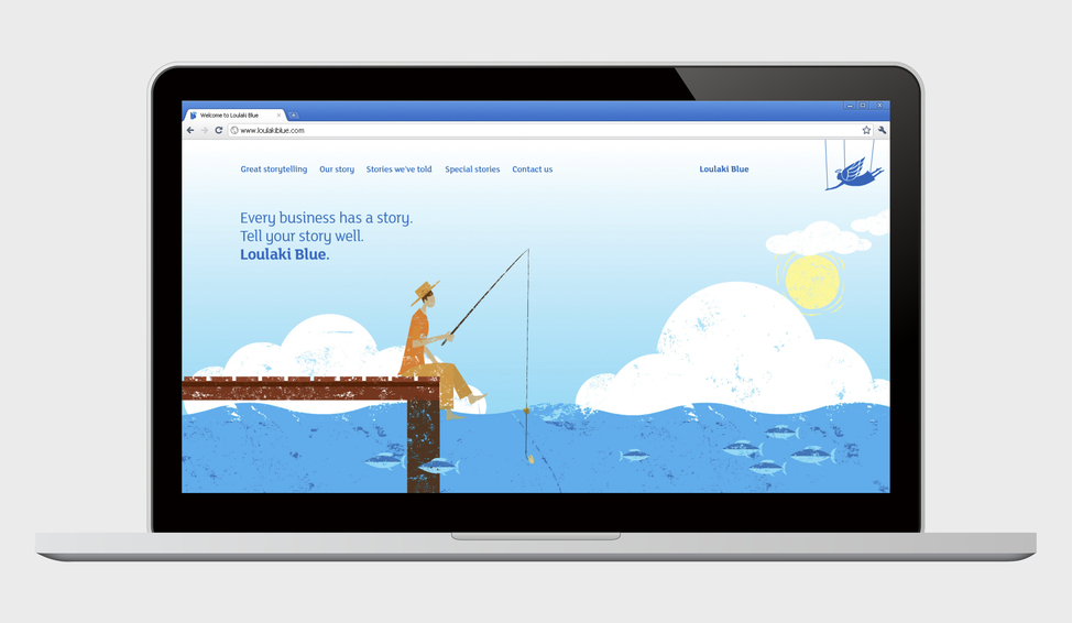 Loulaki Blue website design home page