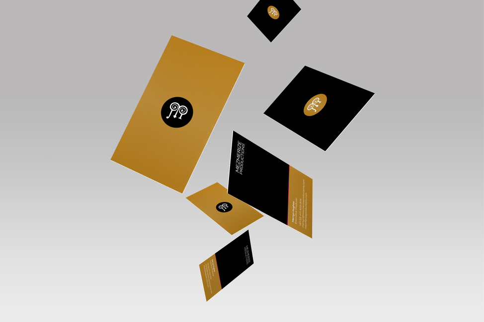 Mezmerize Productions business cards